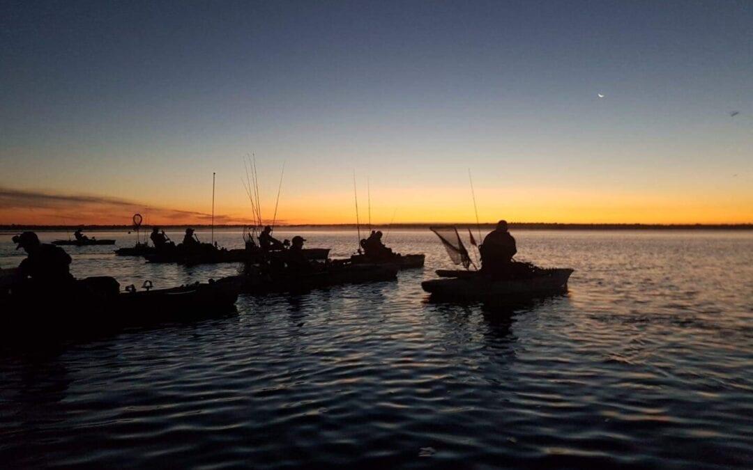 Kajakangel-Veranstaltung in der Ostsee