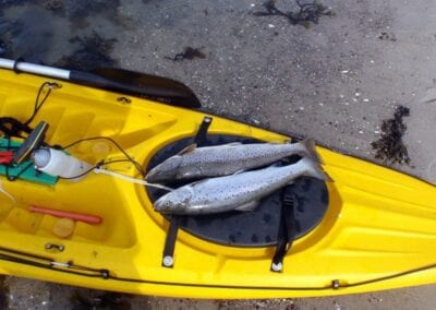 Kajak angeln an der Ostsee in Dänemark